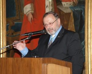 """Dr. Johannes Gerster bei seinem Festvortrag """"66 Jahre Israel. Warum braucht dieses Land unsere Freundschaft?, 29. Juni 2014"""
